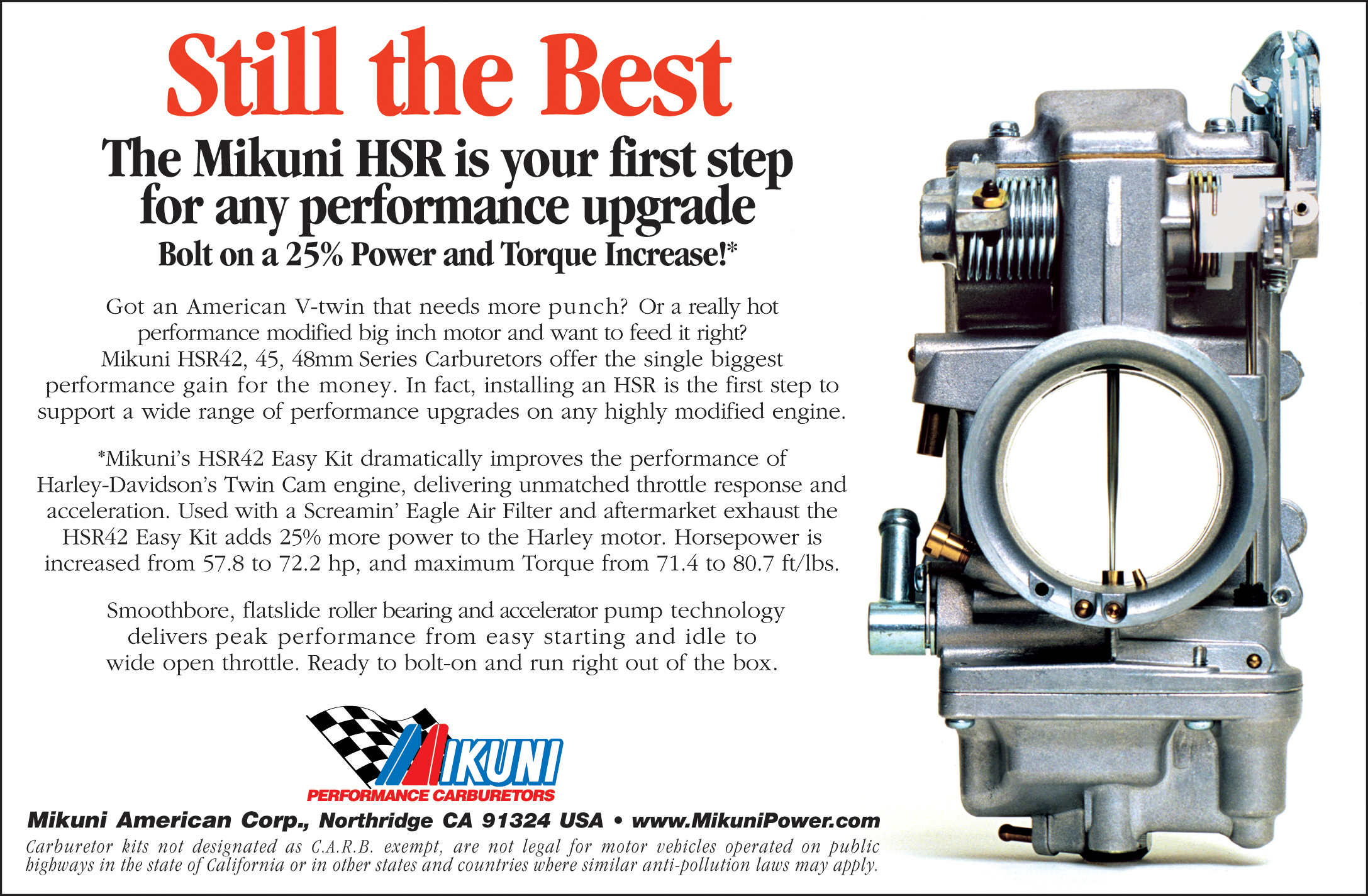 Mikuni Power - Media Ads  Press Releases