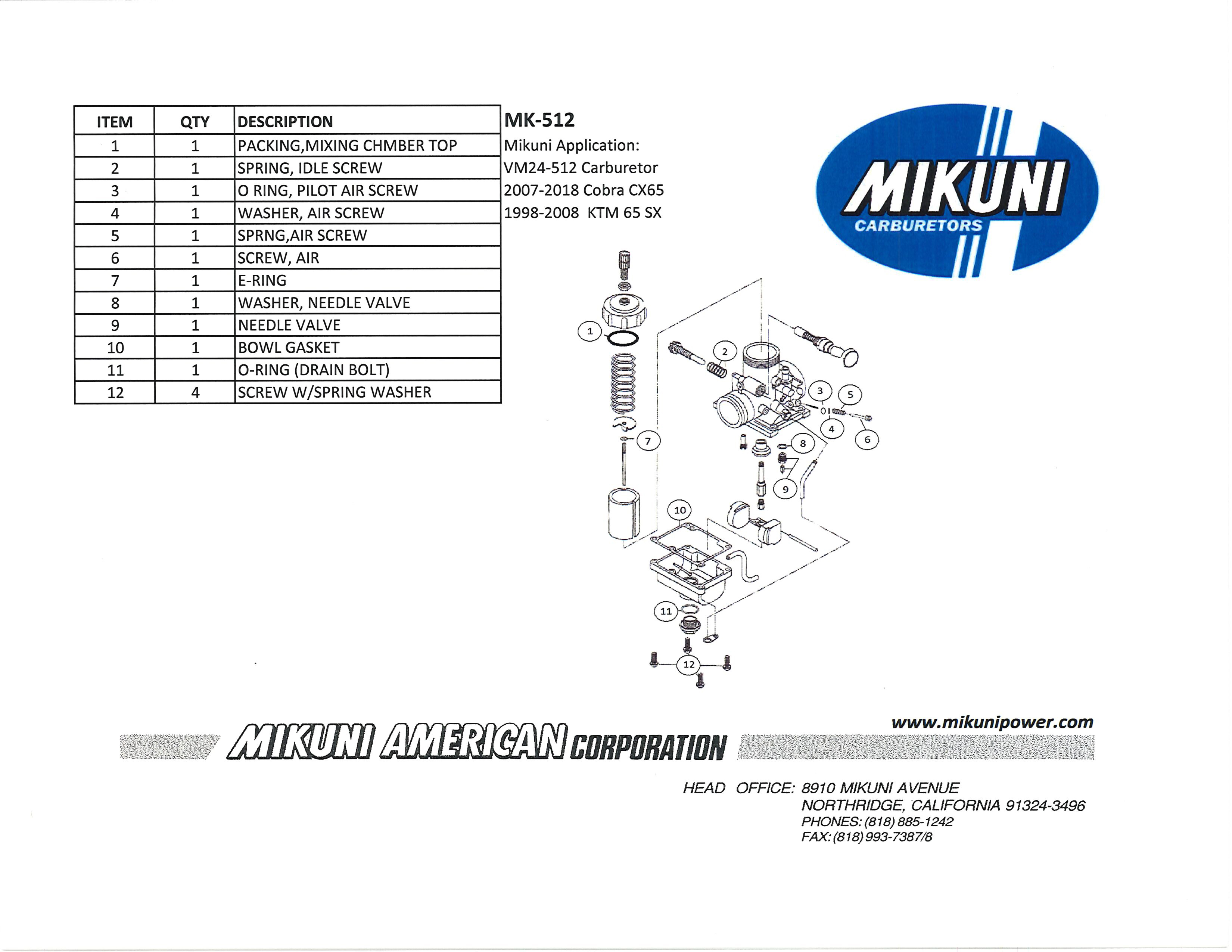 Mikuni Power - Mikuni Genuine Carburetor & Fuel Pump Rebuild